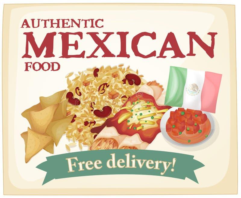 Μεξικάνικα τρόφιμα διανυσματική απεικόνιση