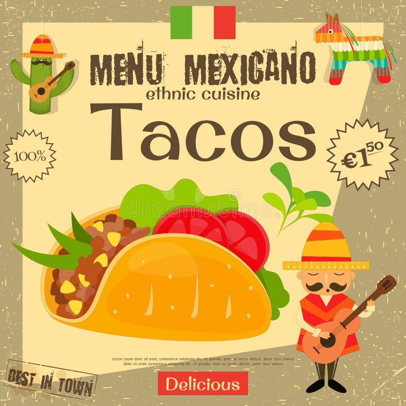 Μεξικάνικες επιλογές απεικόνιση αποθεμάτων