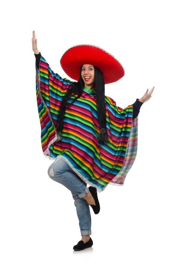 Download Μεξικάνικη γυναίκα στην αστεία έννοια στο λευκό Στοκ Εικόνες - εικόνα από χαριτωμένος, poncho: 62710374
