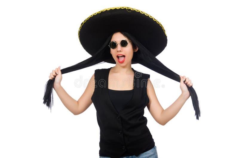 Download Μεξικάνικη γυναίκα στην αστεία έννοια στο λευκό Στοκ Εικόνες - εικόνα από απομονωμένος, ισπανικός: 62710474