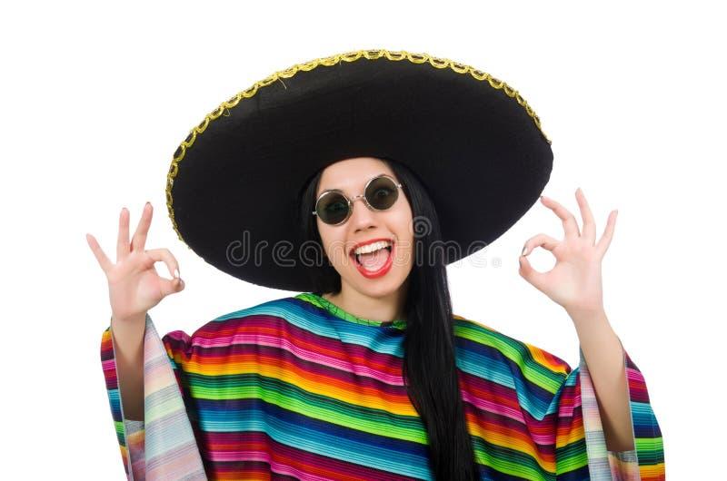 Download Μεξικάνικη γυναίκα στην αστεία έννοια στο λευκό Στοκ Εικόνες - εικόνα από φαλλοκράτης, εύθυμος: 62710476