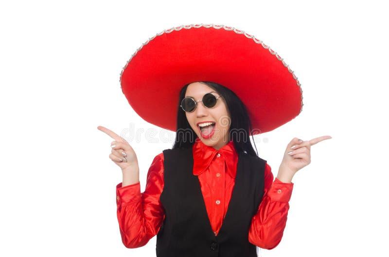 Download Μεξικάνικη γυναίκα στην αστεία έννοια στο λευκό Απεικόνιση αποθεμάτων - εικονογραφία από μεξικάνικα, πίεση: 62710521