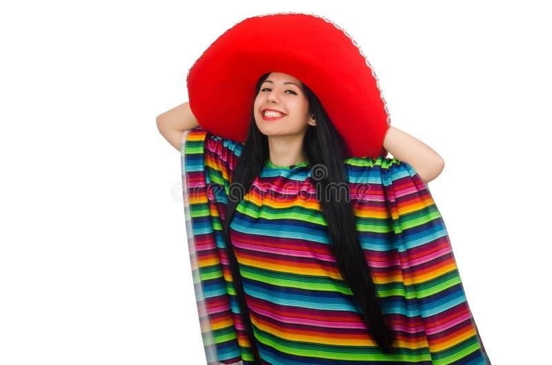 Download Μεξικάνικη γυναίκα στην αστεία έννοια στο λευκό Στοκ Εικόνες - εικόνα από μεξικάνικα, χαριτωμένος: 62710860