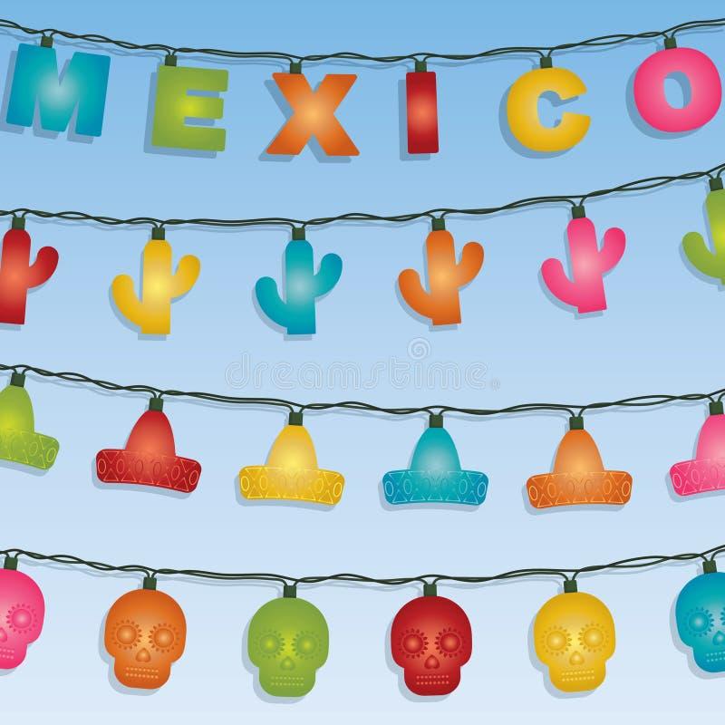 Μεξικάνικη διακόσμηση φω'των απεικόνιση αποθεμάτων