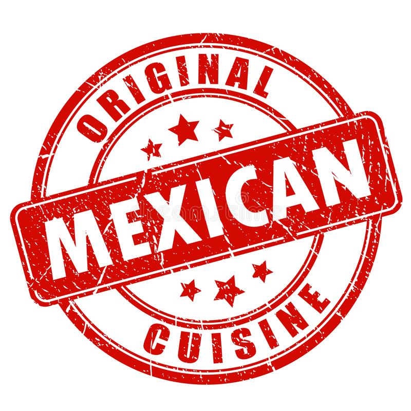 Μεξικάνικη κόκκινη σφραγίδα κουζίνας ελεύθερη απεικόνιση δικαιώματος