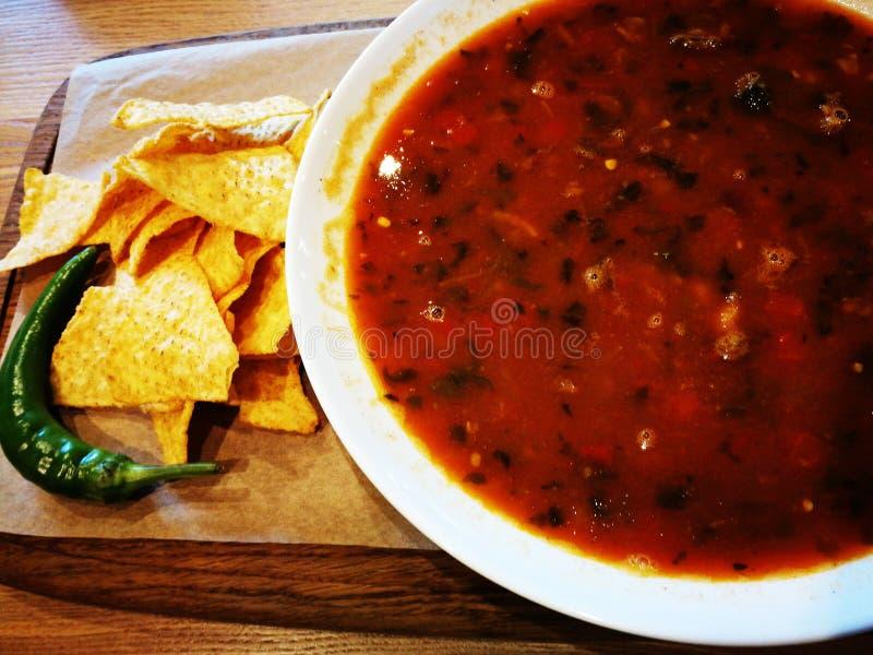 μεξικάνικη σούπα στοκ φωτογραφία