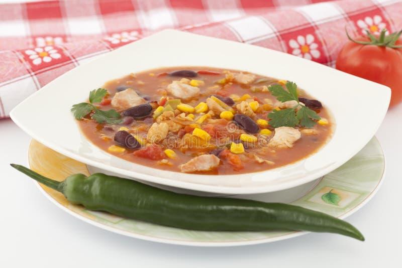 Μεξικάνικη σούπα στοκ εικόνες