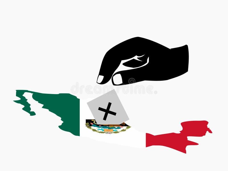 μεξικάνικη ψηφοφορία εκλ ελεύθερη απεικόνιση δικαιώματος