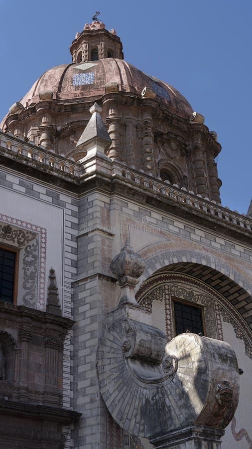 Μεξικάνικος αποικιακός θόλος στην εκκλησία Santa Rosa Βιτέρμπο, Queretaro Μεξικό στοκ φωτογραφία με δικαίωμα ελεύθερης χρήσης