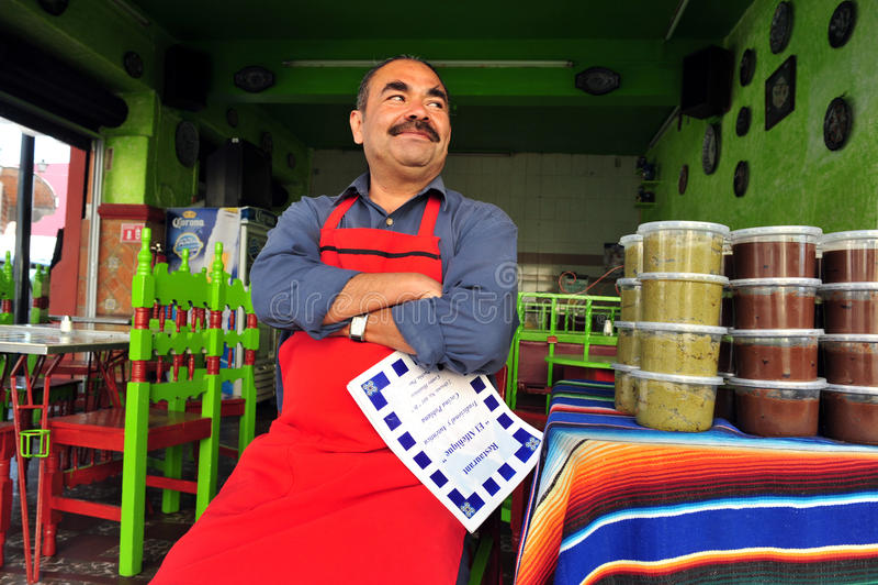 Μεξικάνικος αρχιμάγειρας εστιατορίων στοκ εικόνες