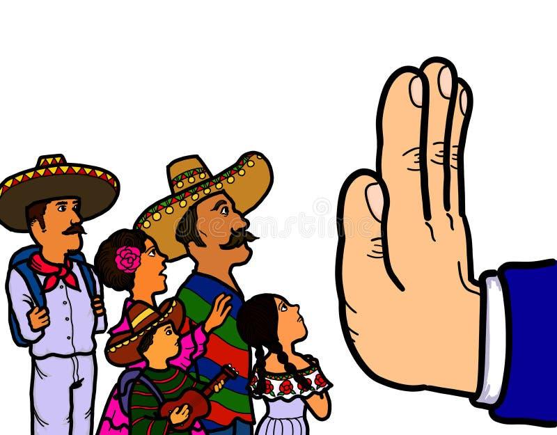 Μεξικάνικος παράνομος μετανάστης απεικόνιση αποθεμάτων