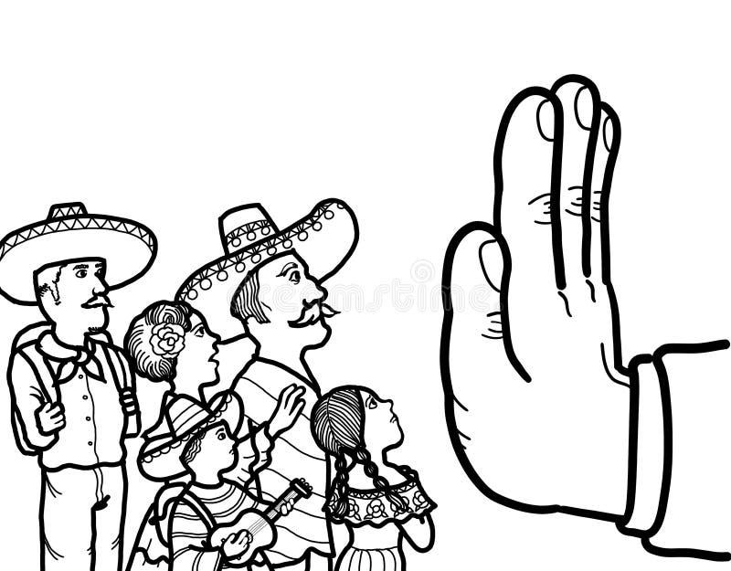 Μεξικάνικος παράνομος μετανάστης διανυσματική απεικόνιση