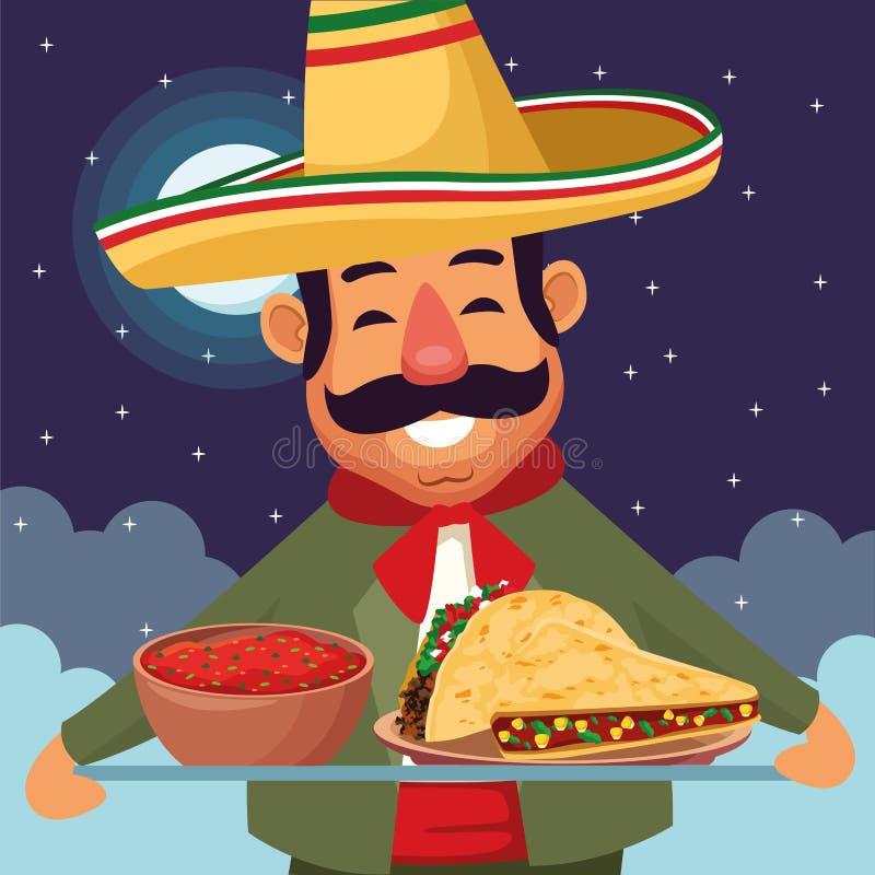 Μεξικάνικος πολιτισμός τροφίμων και tradicional απεικόνιση αποθεμάτων