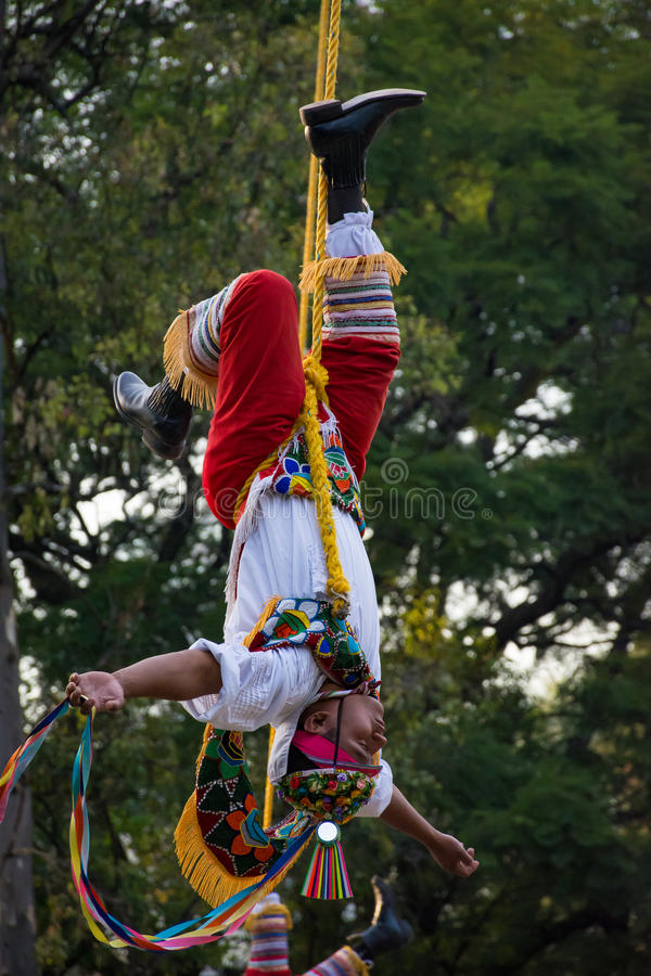 Μεξικάνικος χορός ιπτάμενων πόλων στοκ εικόνες με δικαίωμα ελεύθερης χρήσης