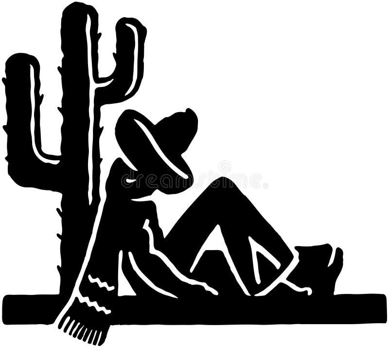 μεξικάνικος ύπνος διανυσματική απεικόνιση