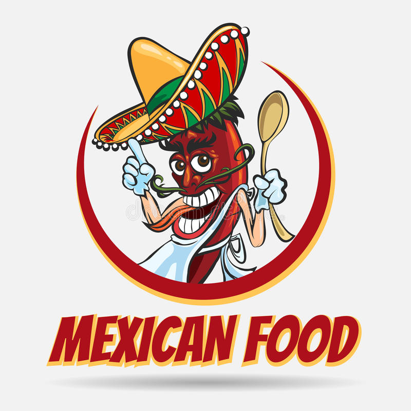 Μεξικάνικο έμβλημα τροφίμων ελεύθερη απεικόνιση δικαιώματος