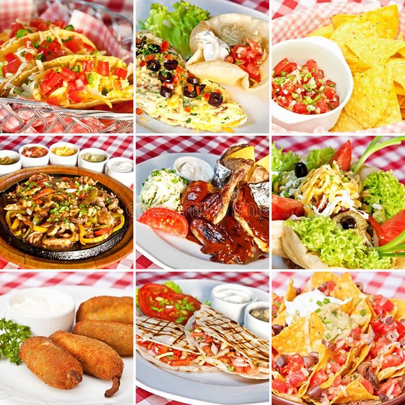 Μεξικάνικο κολάζ τροφίμων στοκ φωτογραφία με δικαίωμα ελεύθερης χρήσης