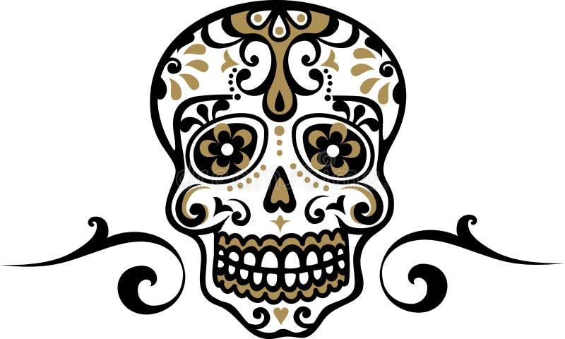 Μεξικάνικο κρανίο διανυσματική απεικόνιση