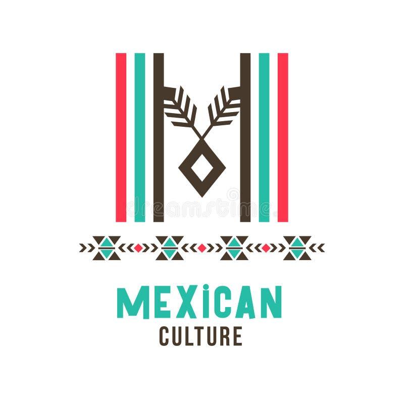 Μεξικάνικο λογότυπο πολιτισμού διανυσματική απεικόνιση