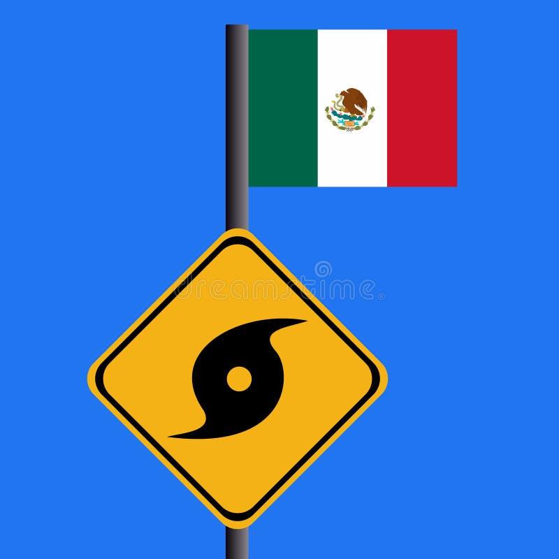 μεξικάνικο σημάδι τυφώνα σ&e ελεύθερη απεικόνιση δικαιώματος