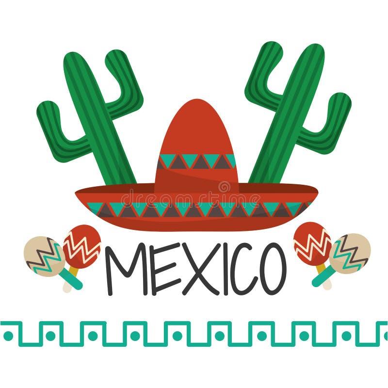 Μεξικάνικο σχέδιο πολιτισμού ελεύθερη απεικόνιση δικαιώματος