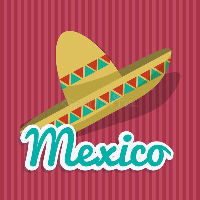 Μεξικάνικο σχέδιο πολιτισμού διανυσματική απεικόνιση