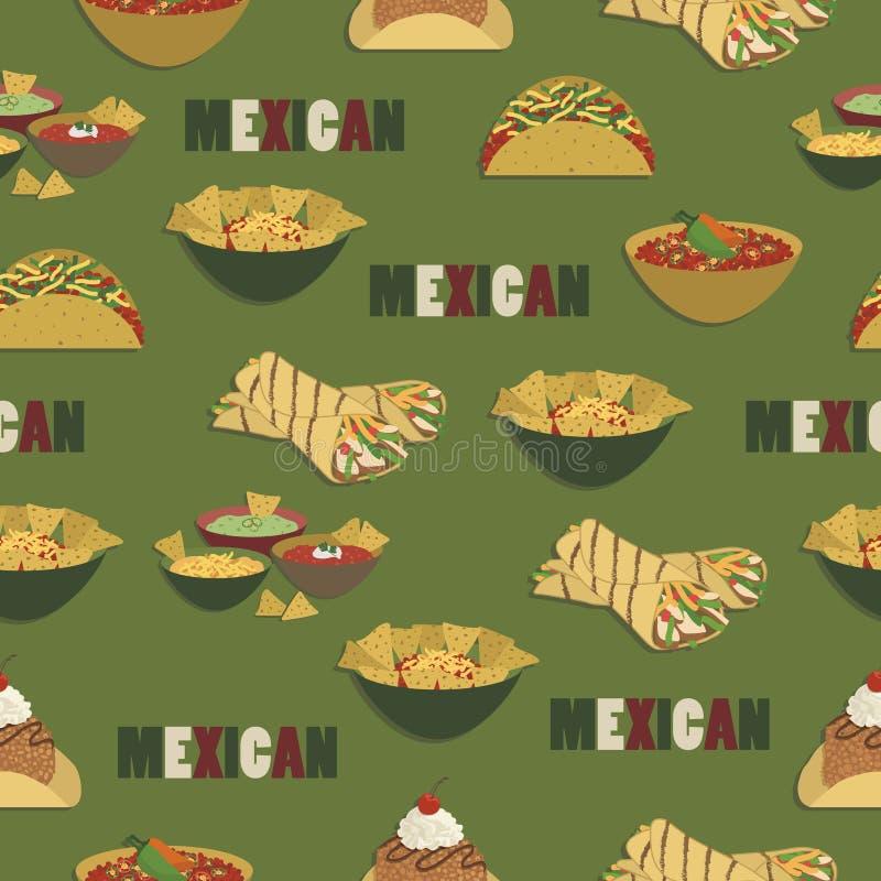 Μεξικάνικο σχέδιο τροφίμων ελεύθερη απεικόνιση δικαιώματος