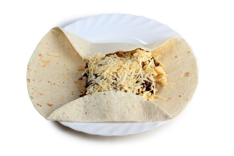 Μεξικάνικο burrito έξι στοκ εικόνες