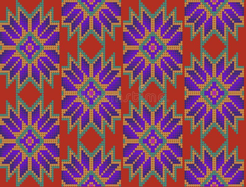 Μεξικάνικο floral σχέδιο στοκ εικόνα με δικαίωμα ελεύθερης χρήσης
