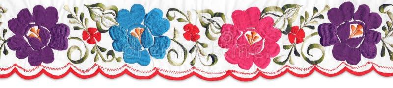 Μεξικάνικο floral λωρίδα στοκ εικόνα με δικαίωμα ελεύθερης χρήσης