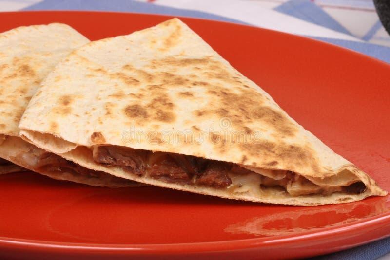 μεξικάνικο quesadilla στοκ φωτογραφία