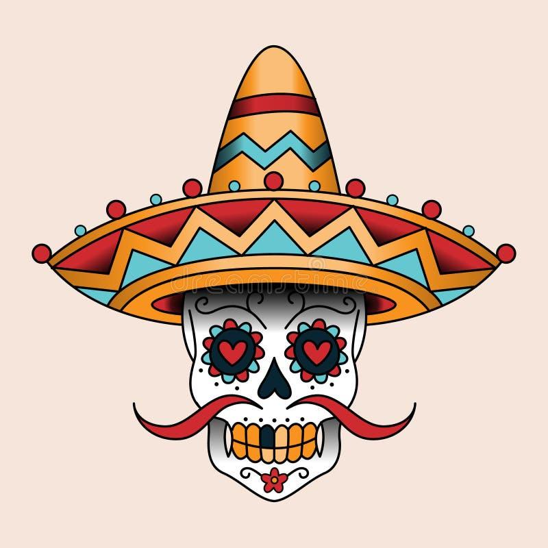 Μεξικάνικο scull ελεύθερη απεικόνιση δικαιώματος