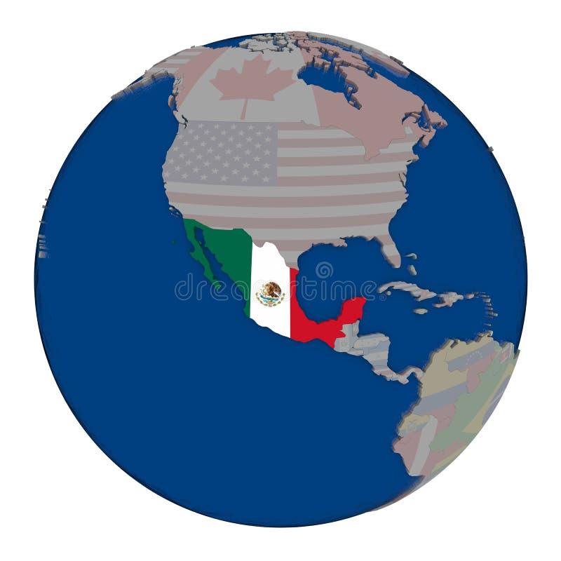 Μεξικό στην πολιτική σφαίρα διανυσματική απεικόνιση