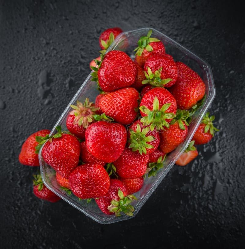 Μερίδα των φραουλών στοκ φωτογραφίες με δικαίωμα ελεύθερης χρήσης