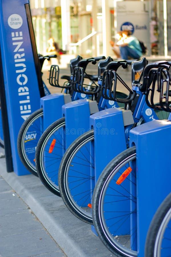 Μερίδιο ποδηλάτων της Μελβούρνης στοκ εικόνες