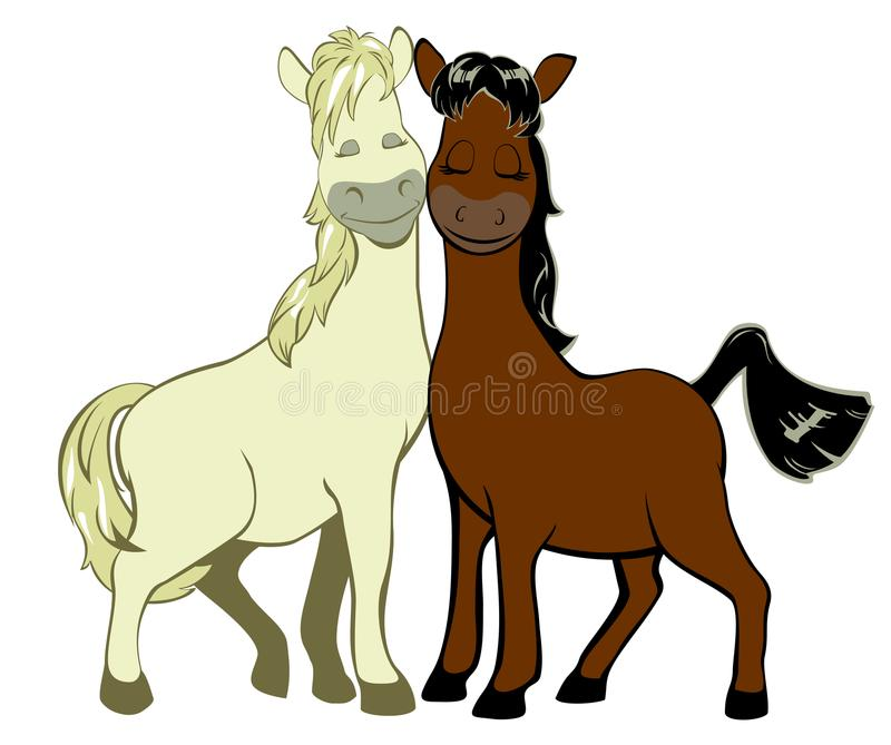 Μερικά αστεία άλογα ερωτευμένα στοκ φωτογραφίες με δικαίωμα ελεύθερης χρήσης