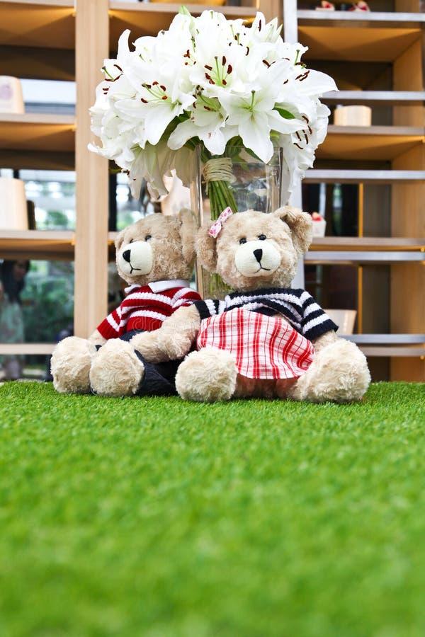 Μερικές χαριτωμένες κούκλες αρκούδων στοκ φωτογραφίες