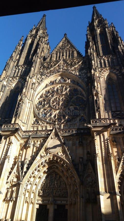 Μεσαίωνας της Πράγας, γοτθικό ύφος, εκκλησία, στοκ φωτογραφία