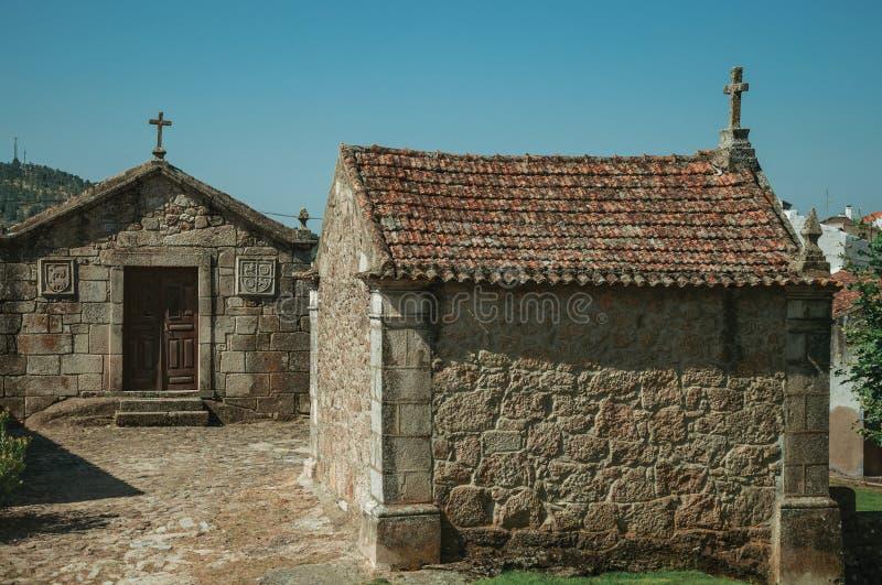 Μεσαιωνικά παρεκκλησια Αγίου Anthony και Calvary σε Belmonte στοκ φωτογραφία με δικαίωμα ελεύθερης χρήσης