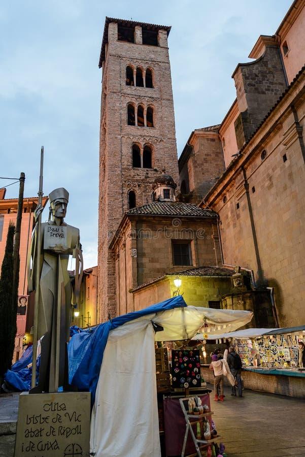 Μεσαιωνική αγορά Χριστουγέννων Vic, στην επαρχία της Βαρκελώνης, Ισπανία στοκ εικόνα με δικαίωμα ελεύθερης χρήσης