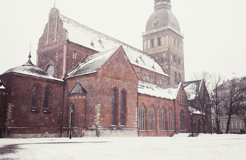 Μεσαιωνική αρχιτεκτονική της παλαιάς πόλης της Ρήγας στοκ εικόνες με δικαίωμα ελεύθερης χρήσης