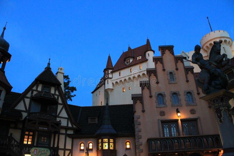 Μεσαιωνική γερμανική πόλη ύφους, Epcot στοκ εικόνες με δικαίωμα ελεύθερης χρήσης