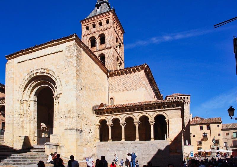 Μεσαιωνική εκκλησία Iglesia de SAN MartÃn, Segovia, Ισπανία στοκ φωτογραφία με δικαίωμα ελεύθερης χρήσης