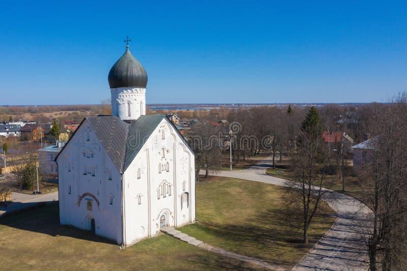Μεσαιωνική εκκλησία Savior στην οδό Ilyina σε Novgorod Veliky, Ρωσία στοκ εικόνα