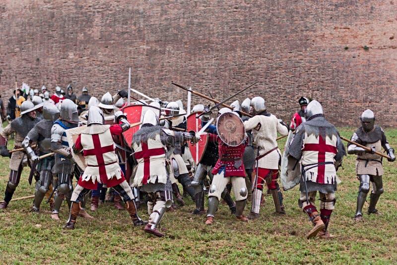 Μεσαιωνική μάχη στοκ εικόνες