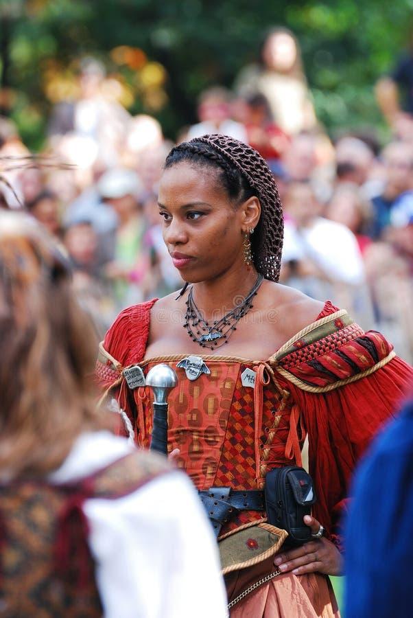 μεσαιωνική νέα γυναίκα Υόρ στοκ φωτογραφία με δικαίωμα ελεύθερης χρήσης