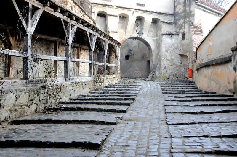μεσαιωνική οδός στοκ φωτογραφία
