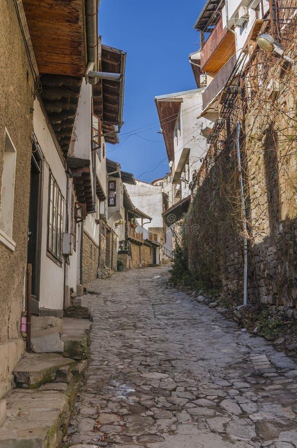 Μεσαιωνική οδός του Βελίκο Τύρνοβο στοκ εικόνες