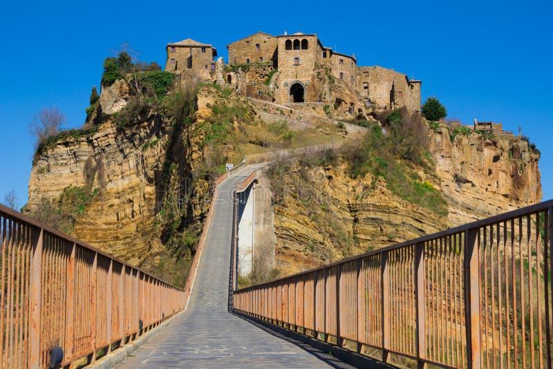 Μεσαιωνική πόλη Civita Di Bagnoregio στοκ εικόνες