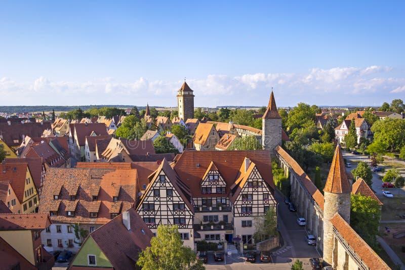 Μεσαιωνική πόλη Rothenburg στοκ φωτογραφίες
